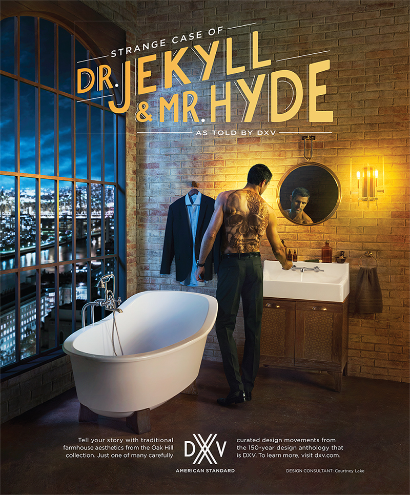 DXV Ad- Dr. Jekyll and Mr. Hyde by Courtney Lake