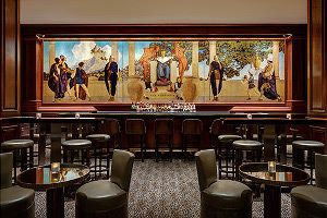Tarting up the Old King Cole Mural at St Regis Hotel in New York