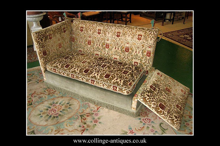 Knole Sofa with the Side Down
