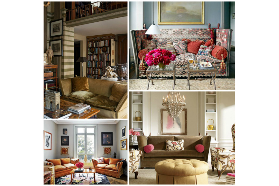 Knole Sofa Collage