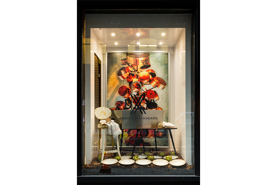 Susan Serra Window Design DXV NYC - Orchard at Night