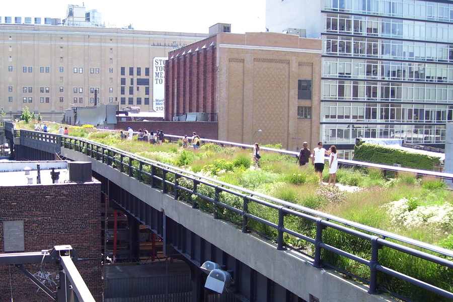 Architecture meets urban landscape in Highline Park