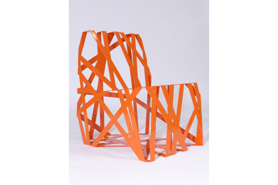 Orange Ribbon Chair by John Liston