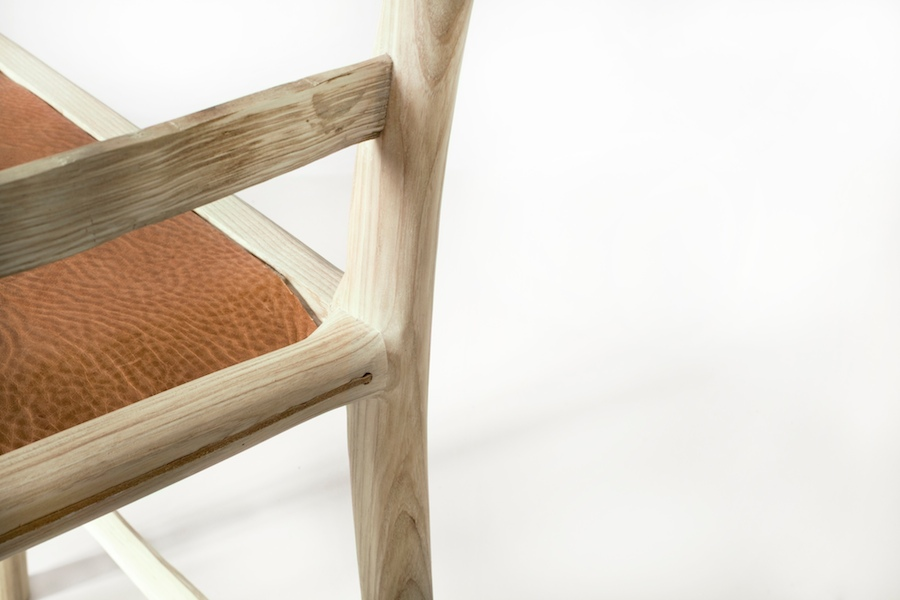 Sebastian Cox for Benchmark: leather seat detail