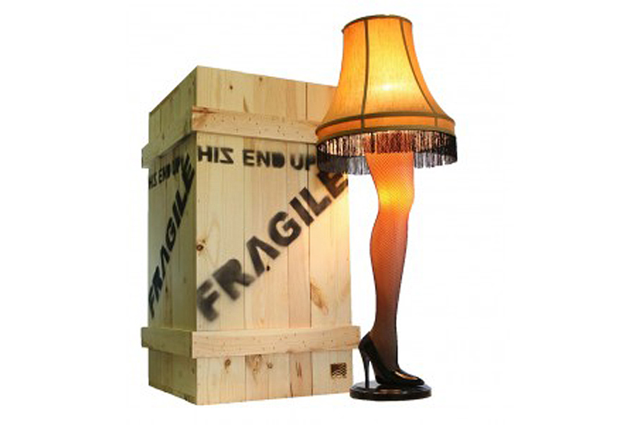 A Christmas Story Leg Lamp. Photo via A Christmas Story House Gift Shop.