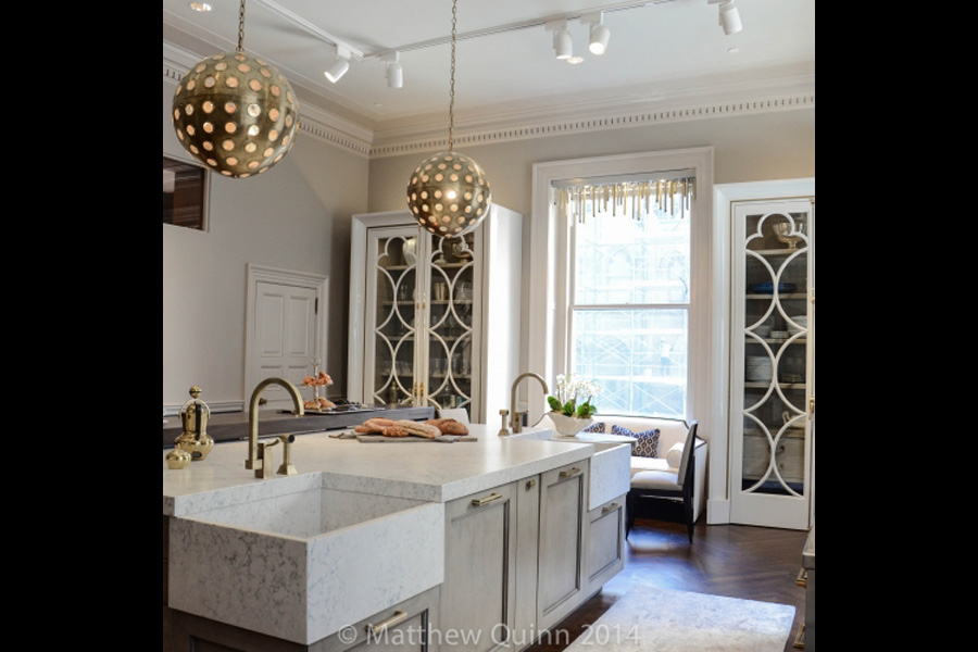 Matthew Quinn Quatrefoil Inspired Kitchen at the 2014 Kips Bay Decorator Showhouse