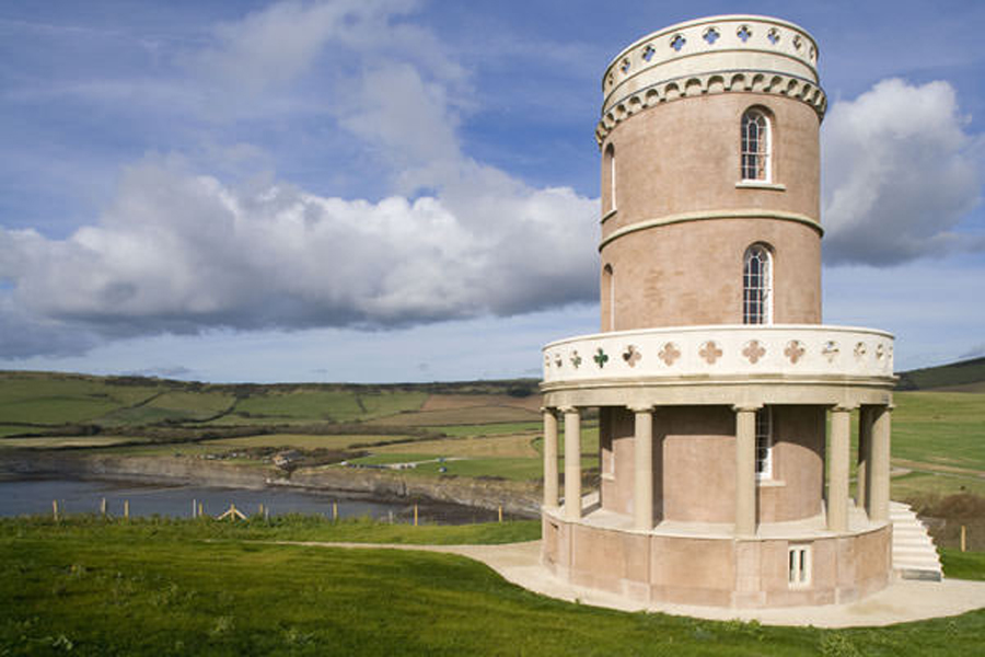 Clavell Tower, Dorset,rescued from the edge of the cliffs by The Landmark Trust.