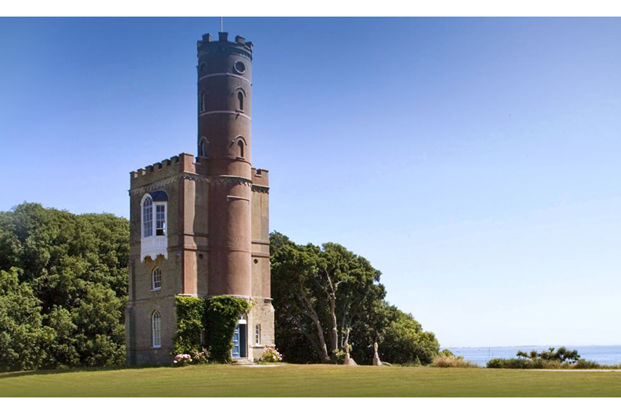 Luttrell's Tower, Southampton. A substantial folly, admired by the future Queen Victoria.