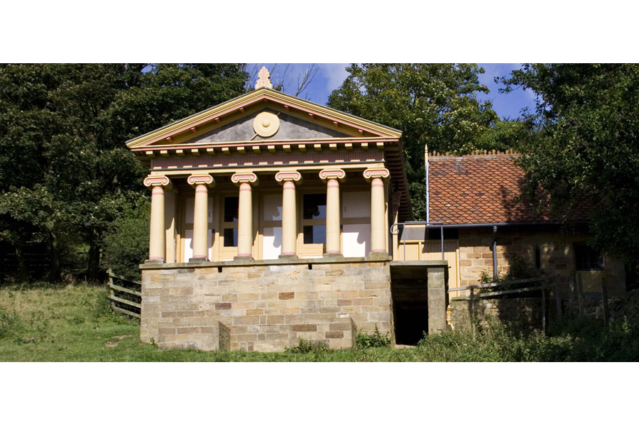 The Pigsty, Yorkshire, England. An actual pig sty, with classical columns.