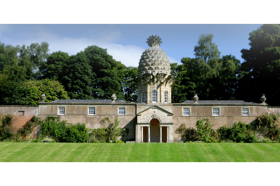 The Pineapple, Dunmore, Scotland. A summerhouse with a story.