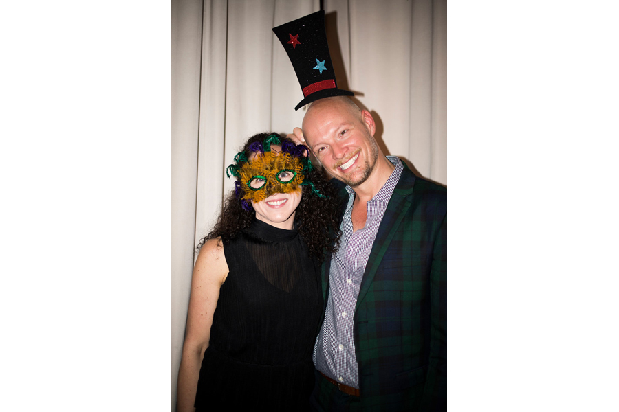 Jonathan Legate and Jill Seidner at DXV Strike a Pose Party