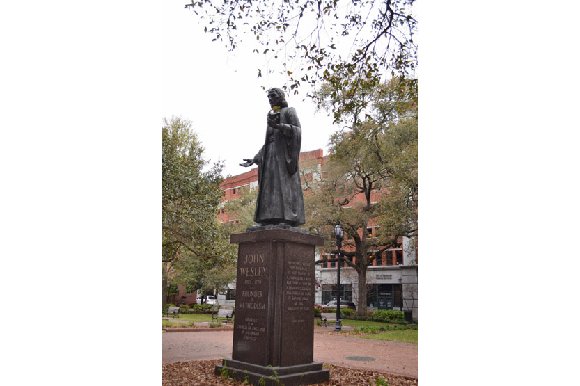 statue of John Wesley, Savannah