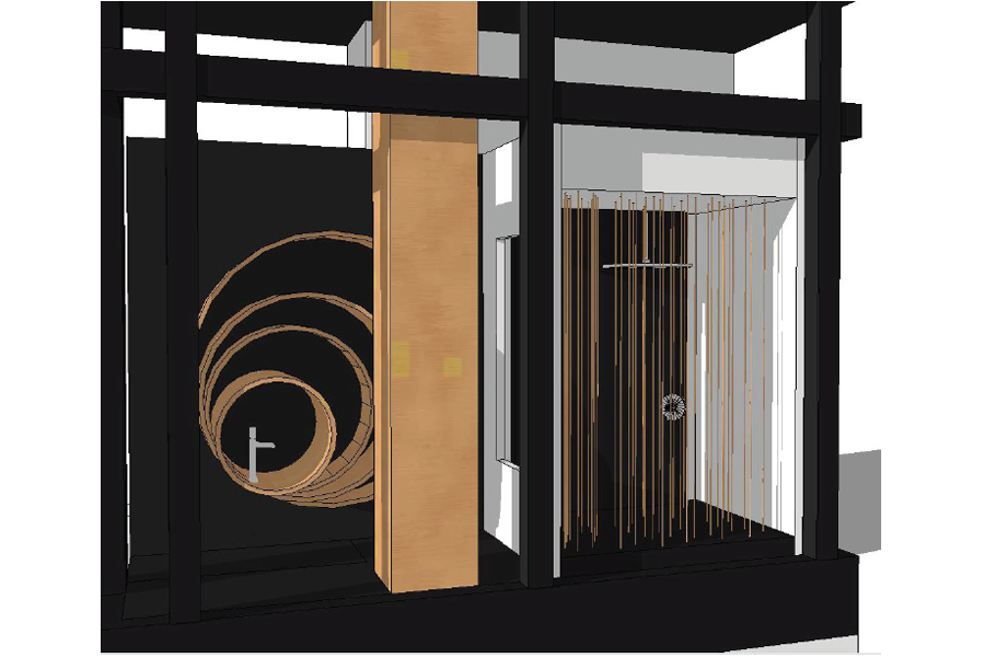 DXV NYC Showroom Window by VOA Architecture Conceptual Rendering