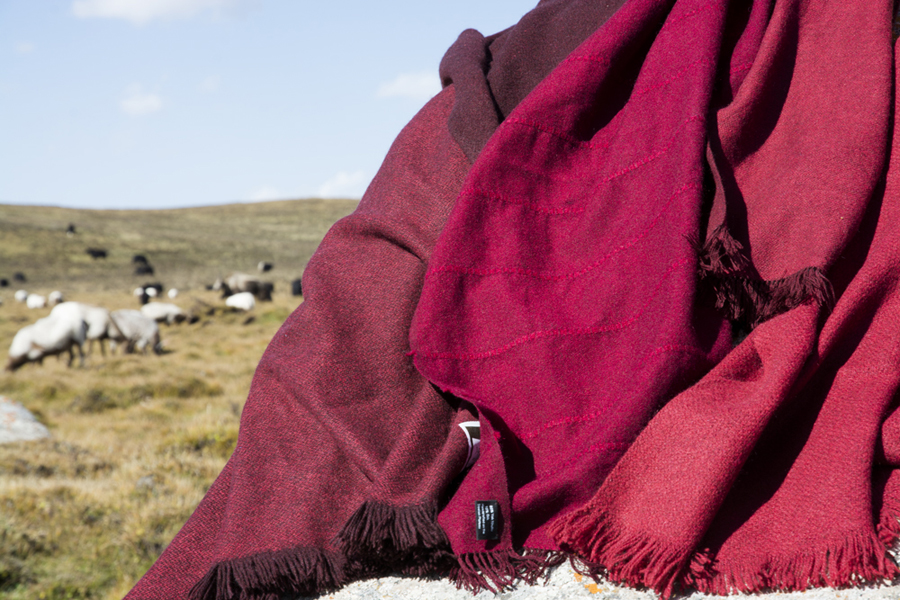 Norlha was the first to hand-weave yak wool