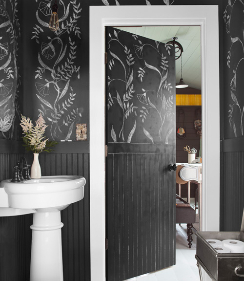DXV Barbara Kurgan Chalk paint bathroom