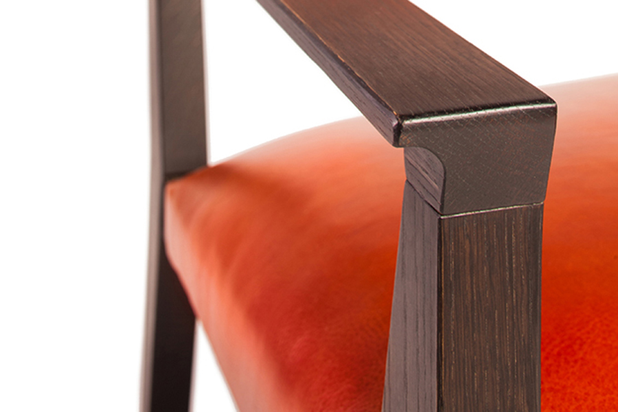 Freyr Leather Chair, Forest Dickey of Varian Designs