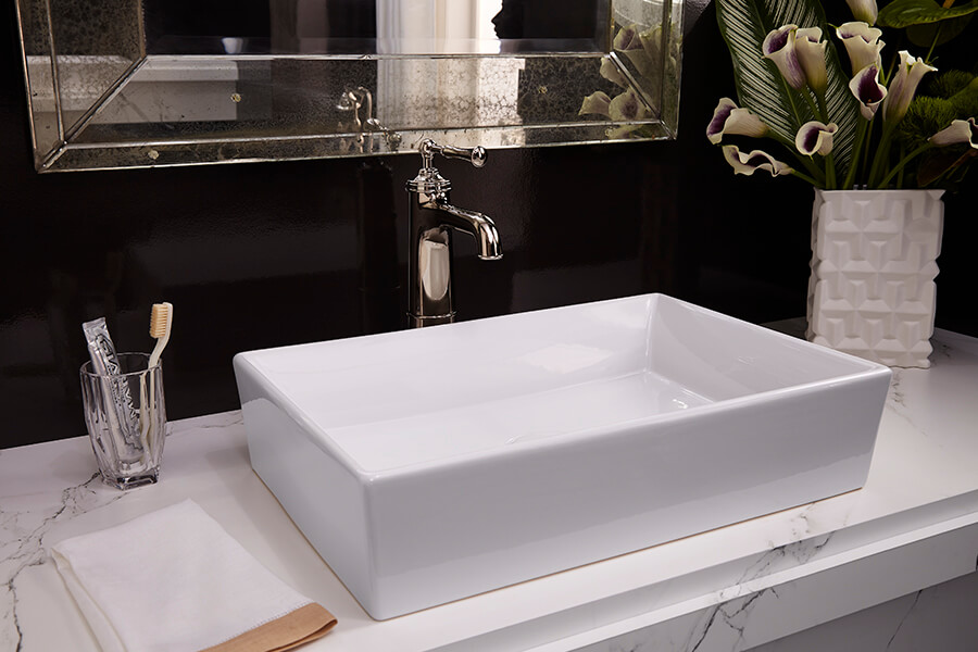 DXV Pop Sink and Randall Vessel Faucet
