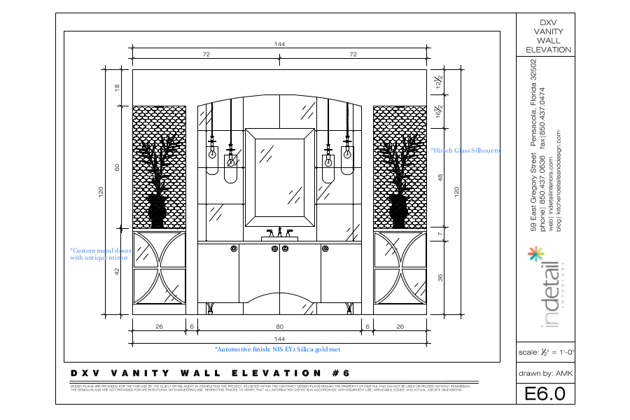 Vanity Wall Elevation