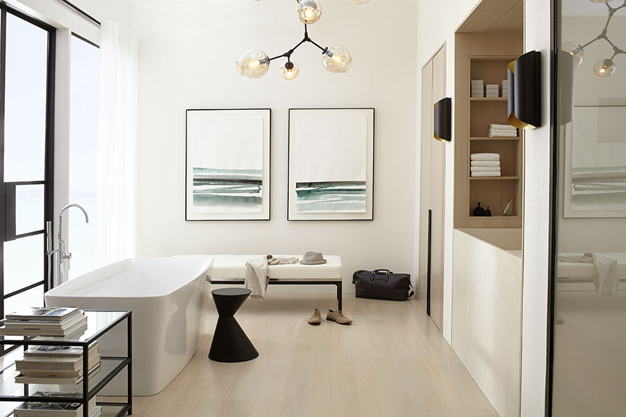 7 Faucet Finishes For Fabulous Bathrooms: Contemporary Beach By DXV Designer Genevieve Ghaleb