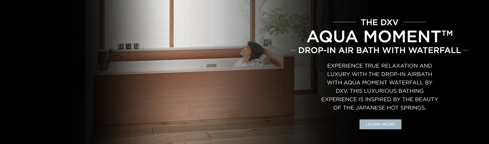 DXV AquaMoment Massage Tub with Waterfall