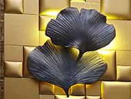 Sconce, Gingko Leaf by Charles Paris