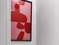 Red and Pink Abstract Wall Art, VILLA CAPRI