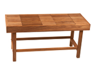 Rigid Leg bench with slats