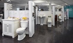 This new industrial design studio provides the perfect environment for the talented American Standard and DXV design team to develop the next generation of beautifully innovative bath and kitchen products. Shown here are toilets from the Portsmouth, Town Square and Tropic offerings, with complementary vanities and sinks.
