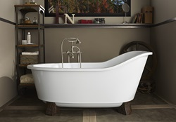 Oak Hill Wood Finished Feet Tub