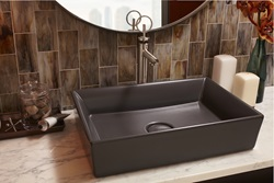 DXV Pop Rectangle Vessel Sink and DXV Percy Vessel Faucet with Loop Handle