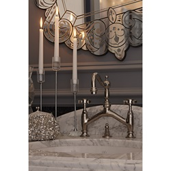 DXV Landfair Bridge Faucet with Cross Handles and DXV Pop Grande Oval Undercounter Lavatory