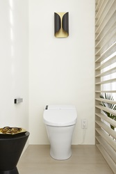 """Contemporary Beach"" Miami (1990 – Present) by Genevieve Ghaleb – SpaLet AT200 Dual Flush Smart Toilet"