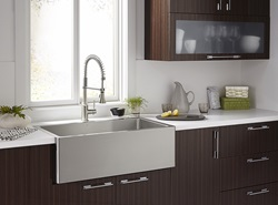 DXV Hillside Stainless Steel Kitchen Sink and DXV Fresno Culinary Kitchen Faucet