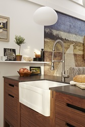 DXV Hillside Apron Front Kitchen Sink and DXV Fresno Culinary Kitchen Faucet