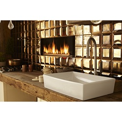 DXV Isle Pull-Down Kitchen Faucet and DXV Pop Rectangular Vessel Sink