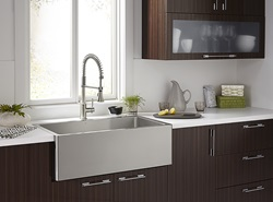 DXV Hillside Stainless Steel Kitchen Sink and the Fresno Culinary Kitchen Faucet