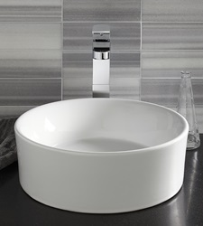 DXV Pop Round Vessel Sink with Equility Vessel Faucet