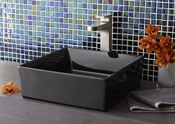 DXV Pop Square Vessel Sink with Equility Vessel Faucet