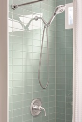 The Spectra+ Handheld hand shower provides optimum convenience, plus a choice of four spray settings.
