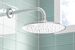The drenching 11-inch Rain showerhead, part of the innovative new Spectra+ collection from American Standard, offers relaxing showering options for a luxurious personal experience.