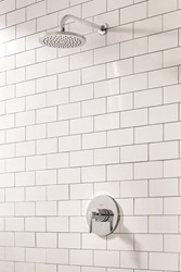 New from American Standard, the Studio S shower system showcases a luxurious 8-inch showerhead and sleek, contemporary design lines on the diverter and tub spout, bringing a sense of urban style to the bathroom.