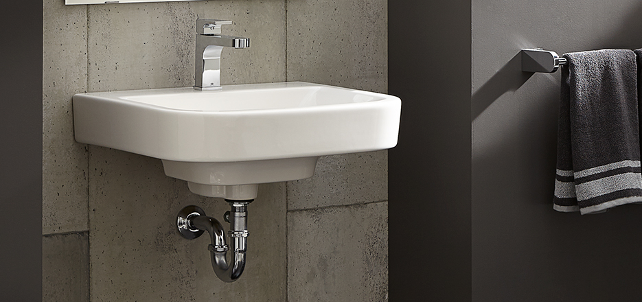 Bathroom sinks dxv luxury pedestal countertop and wall for Lavabo salle de bain american standard
