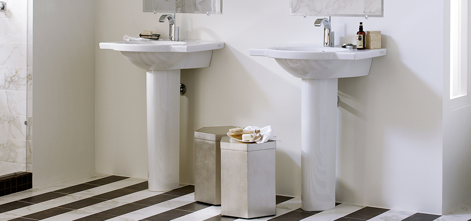 Bathroom Sinks DXV Luxury Pedestal Countertop and WallHung Sinks