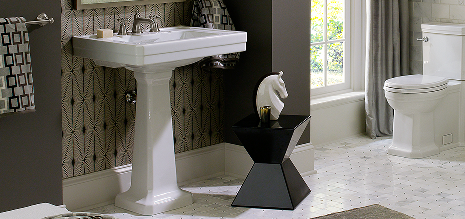 DXV Fitzgerald Collection Pedestal Bathroom Sink