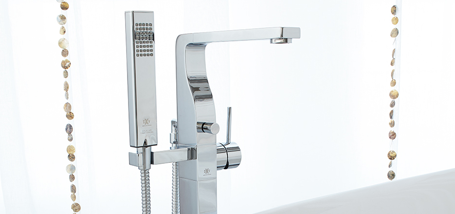 DXV Square Floor Mount Tub Faucet