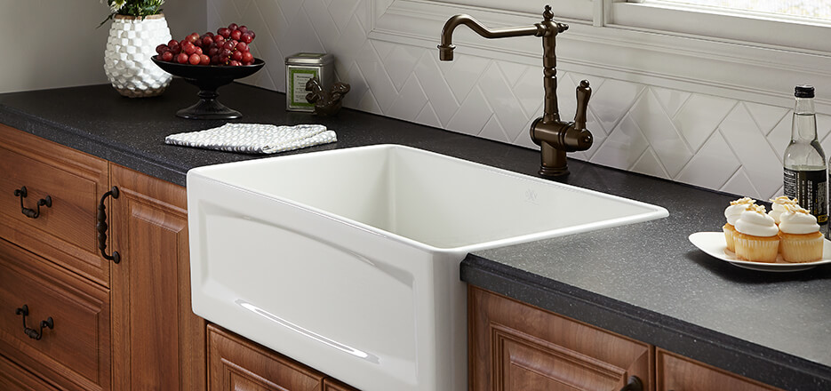 nice Farmer Kitchen Sinks #6: DXV Hillside Collection Farm Kitchen Sink DXV Hillside Collection Farm  Kitchen Sink ...