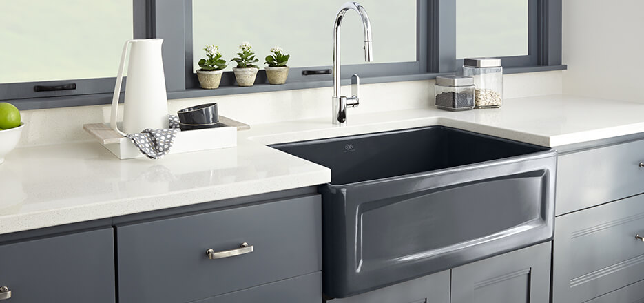 Cream Sinks For The Kitchen : Hillside Classic Kitchen Sink Collection from DXV