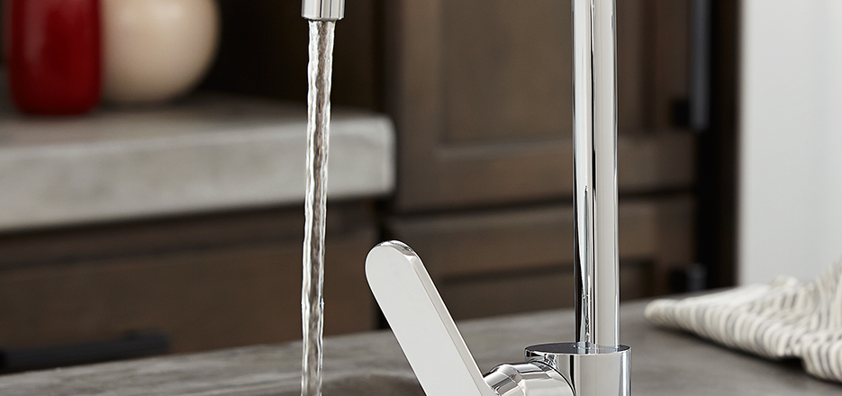 7 Faucet Finishes For Fabulous Bathrooms: Isle Contemporary Kitchen Faucet Collection From DXV