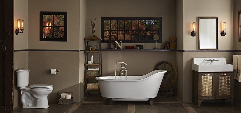 ... DXV Oak Hill Collection Bathroom Suite ...