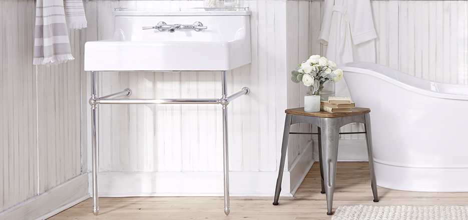 console carrara with shelf bathroom marble sink sinks
